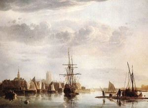 Dordrecht, Zuid-Holland, in the Netherlands, painted by Aelbert Cuyp (1620-1691).